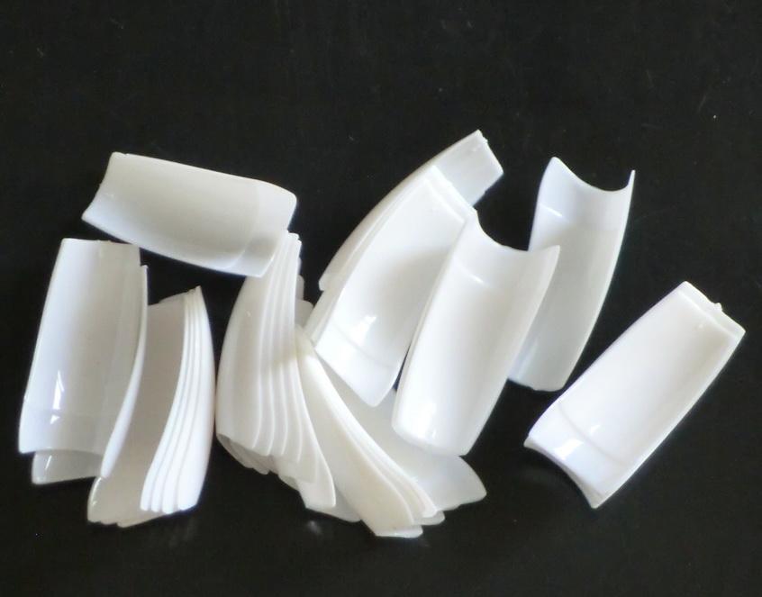 Vente en gros - gel acrylique français blanc faux ongles TIPS Faux ongles