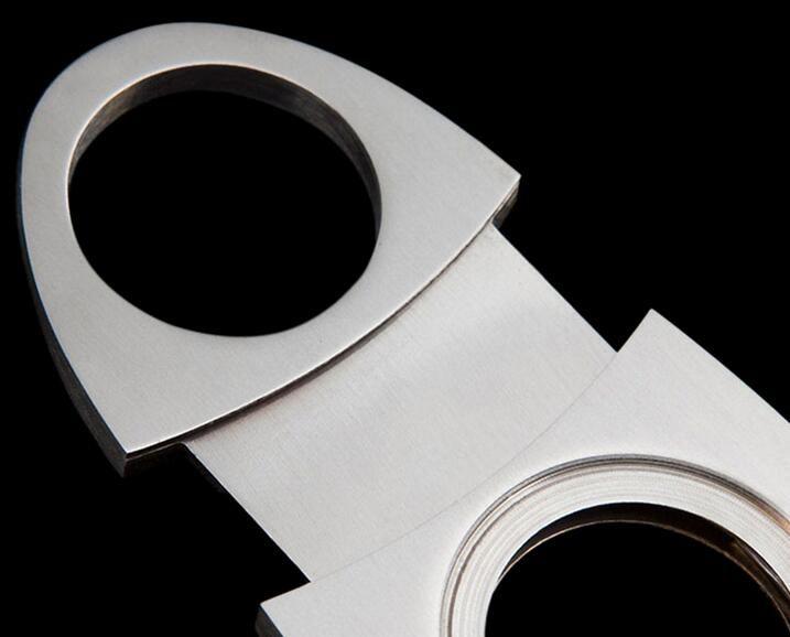 Yeni Paslanmaz Cep Puro Kesici makas puro bıçak puro makas sigara içen bıçak sigara Aksesuarları Gümüş renk
