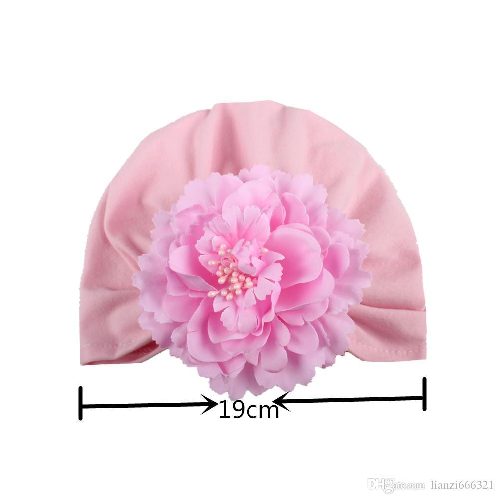 Bébé Fille Doux Coton Bonnet Infantile Floral Knot Cap Hôpital Chapeau Enfant Headwarp Turban Neuf HJ122