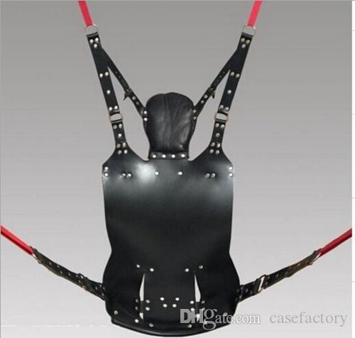 2014 Best price top quanlity Black sex toys BDSM new coming Strict Leather Sling w and Stirrups and Pillow EMS