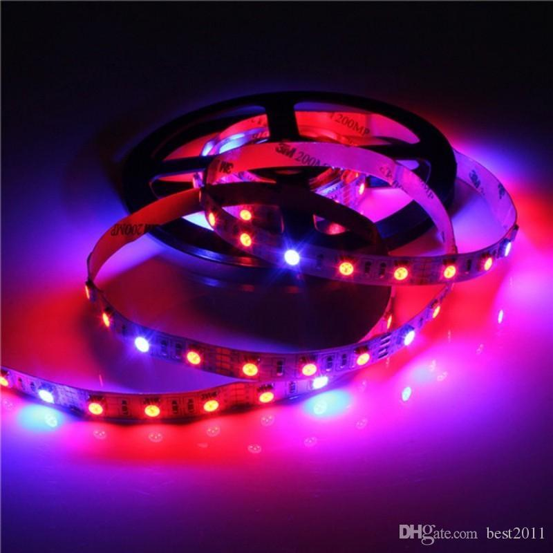 Full Spectrum SMD5050 Led Grow Strip Light NON-waterproof Led Grow Light for Hydroponic Plant Growing Lamp Grow box Red Blue 4:1