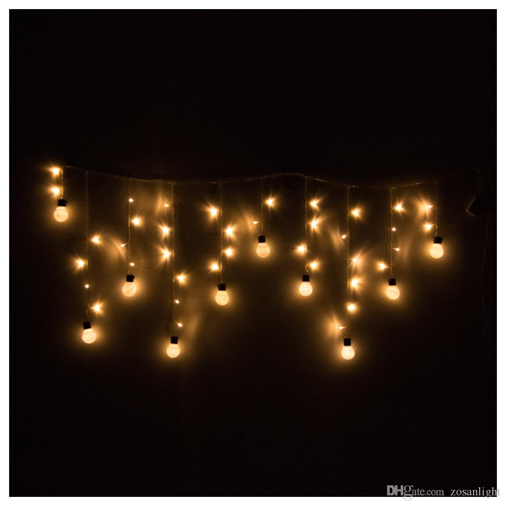 웨딩 장식 야외 실내 축제 문자열 조명 LED48 다채로운 문자열 조명 220v 110v 크리스마스 문자열 전구 조명