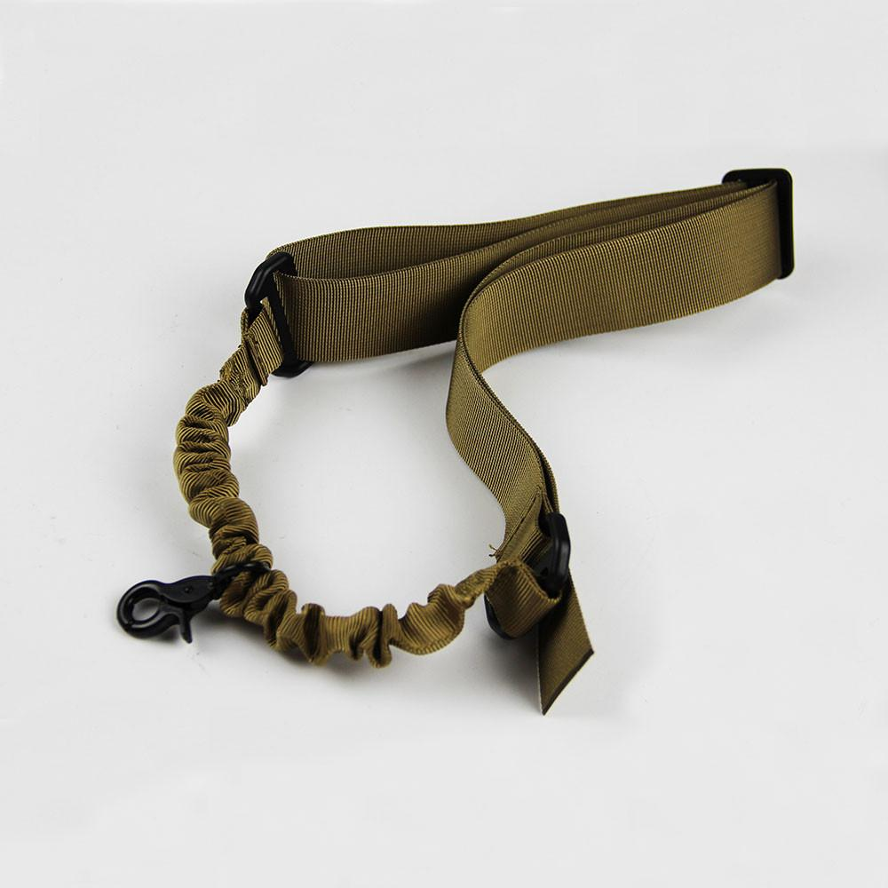 1-ponto Nylon Tactical Rifle Sling Caça Pistola Airsoft Banda Único Ponto Bungee Sling para Airsoft Rifle Gun Strap