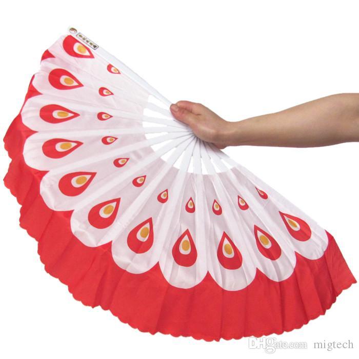 / geben Verschiffen-neuen Ankunfts-Pfaufächern chinesischen Farben des Tanzfans 5 frei, die für Hochzeitsfestbevorzugungsgeschenk vorhanden sind