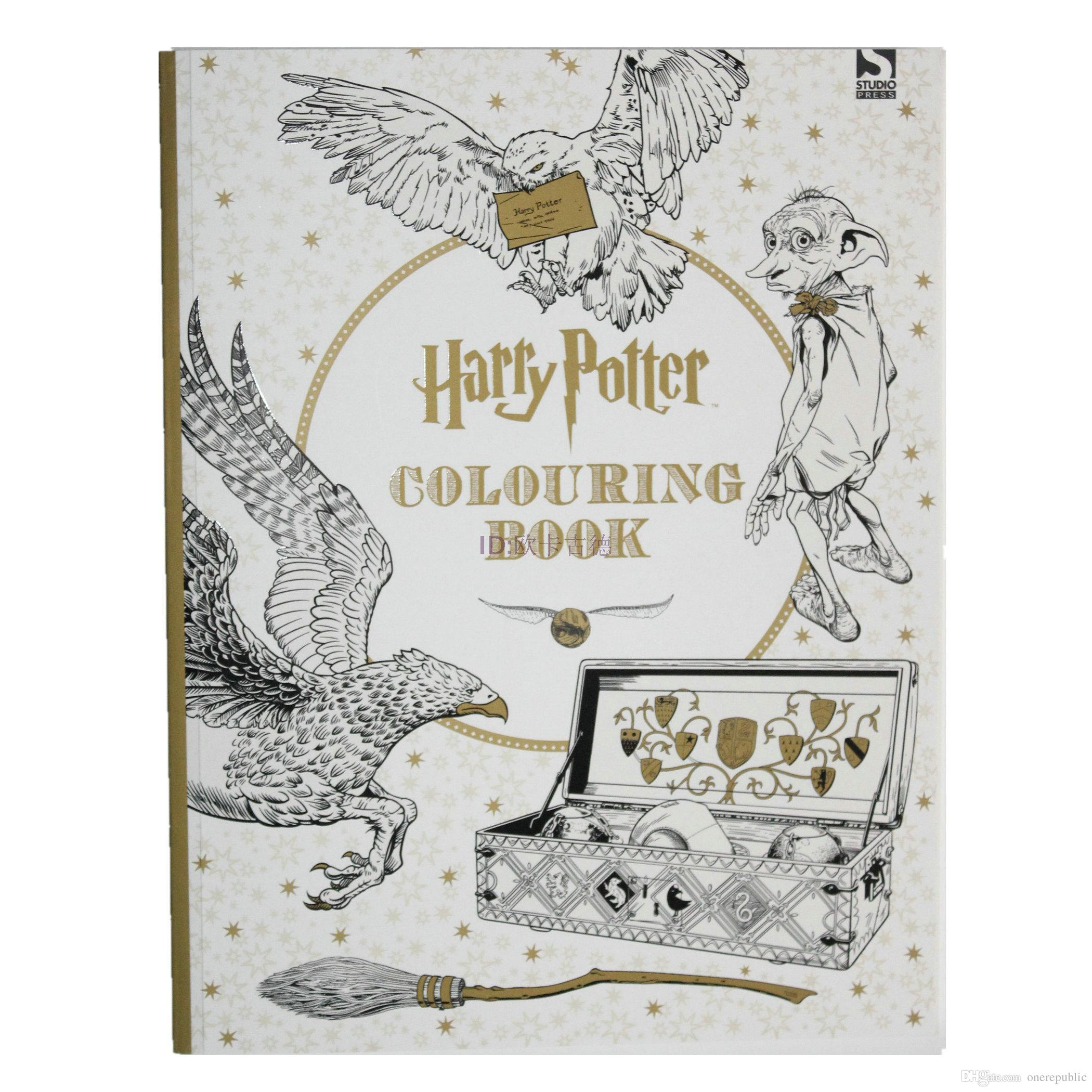 Harry Potter Coloring Book Books For Children Adult Secret Garden Series Kill Time Painting Drawing Ing Pages Boys Detailed Colouring
