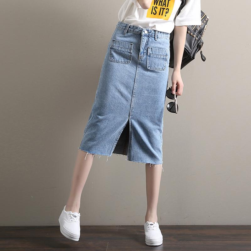 Famale 2017 Fashion Bodycon High Waisted Denim Skirt Casual Package