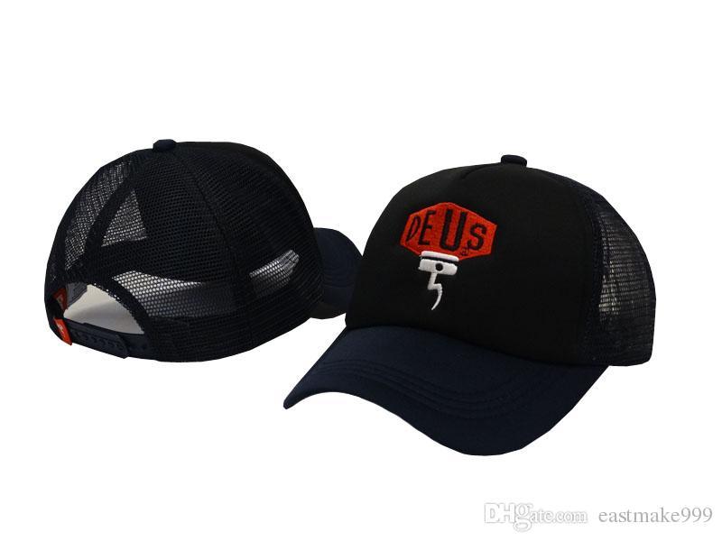 Nagelneue Deus Ex Machina Baylands Fernlastfahrer-Hysteresen-Hüte 9 Arten MOTORRÄDER Maschen-Baseballmütze-Tropfenverschiffen