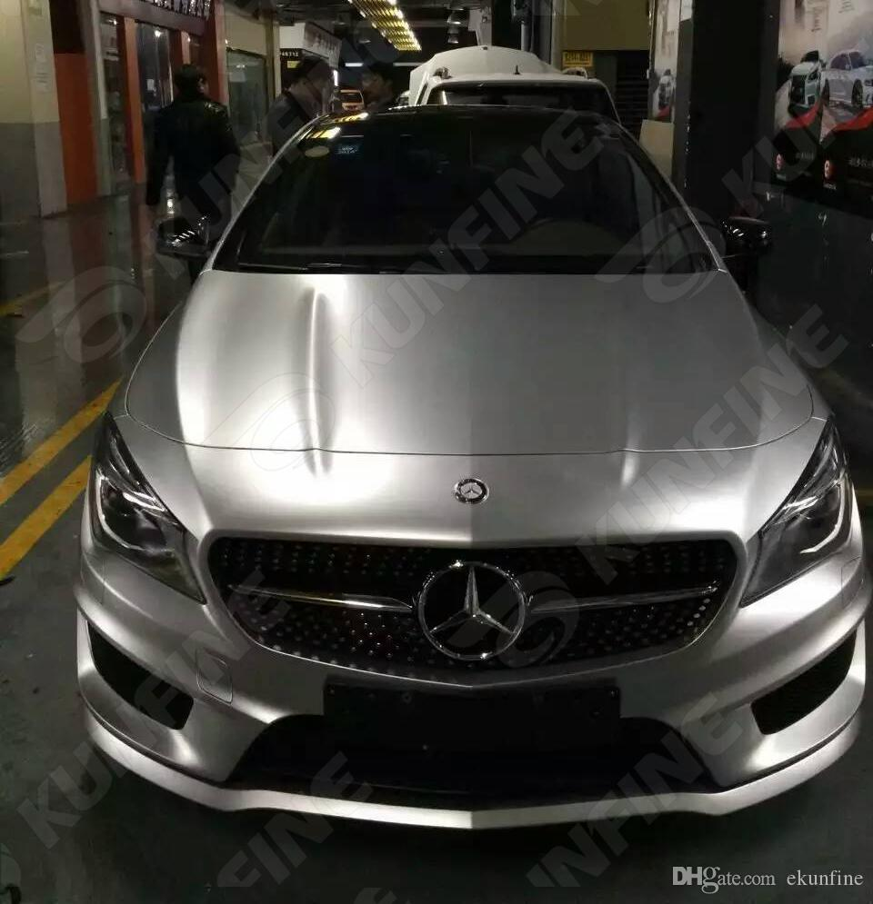 2017 Car Styling Wrap Matt Ice Silver Car Vinyl Film Body