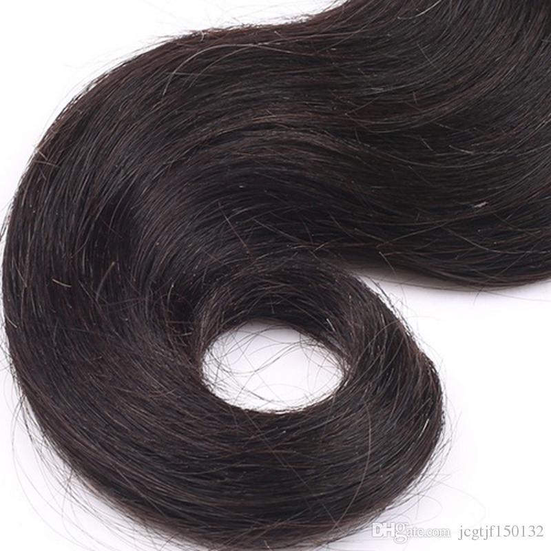 100% capelli umani 8 '' - 30 '' fasci del tessuto dei capelli del brasiliano 100g 8A onda del corpo dei capelli del Virgin brasiliano