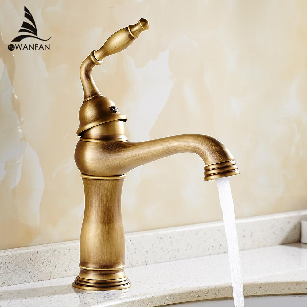 Online Cheap Basin Faucets Solid Brass Deck Mount Bathroom Sink ...