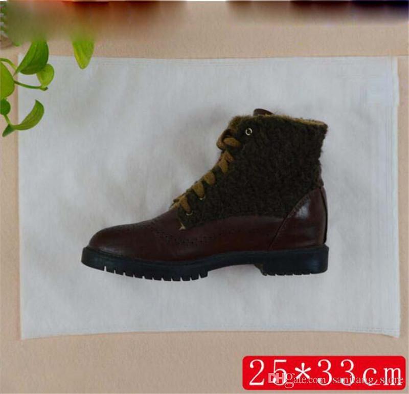 Non-woven Fabric Shoes Drawstring Bag Reusable White Dustproof Shoes Cover Storage Bag With Rope 20*33cm 20*38cm 24*38cm 25*33cm 38*28cm Hot