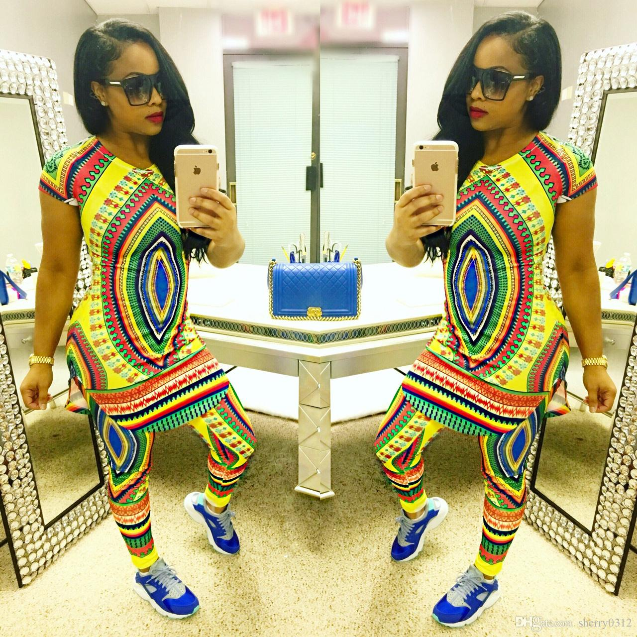 6ba90ceda 2019 2017 African Fashion Design Suits Sets Women Traditional Print Dashiki  Clothing National Characteristic Two Piece Pants African Clothes From  Sherry0312 ...
