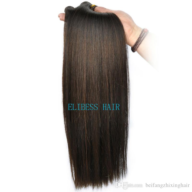Grade 7A!!!#2 dark Brown Brazilian Virgin Remy Hair Silky Straight Weave Brazilian Straight Human Hair Bundles