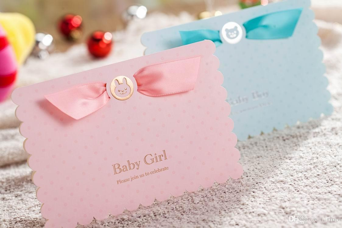 Baby Shower Invitation Boys Girls Birthday Greeting Card Gifts Baby ...