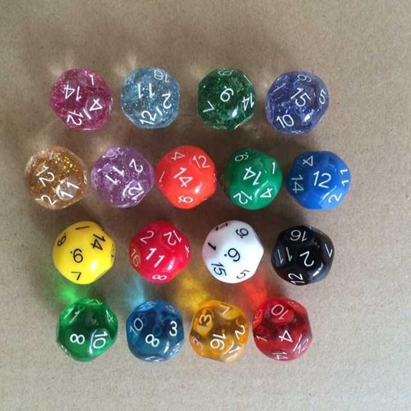 16 двусторонняя кости D16 разноцветные многогранные кубики RPG DND игры игрушки смешные игры для партии новинки подарок хорошая цена высокое качество #P15
