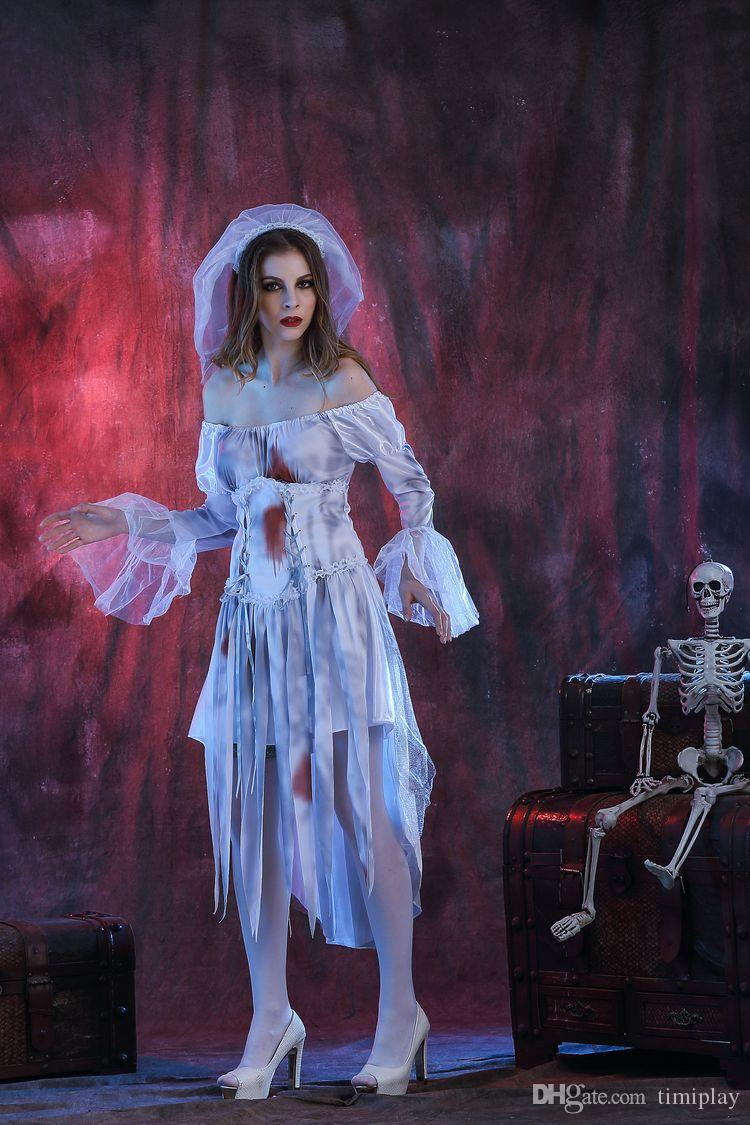 Halloween Halloween cosplay clothing stage costumes female Couples spirits Halloween zombie ghost bride