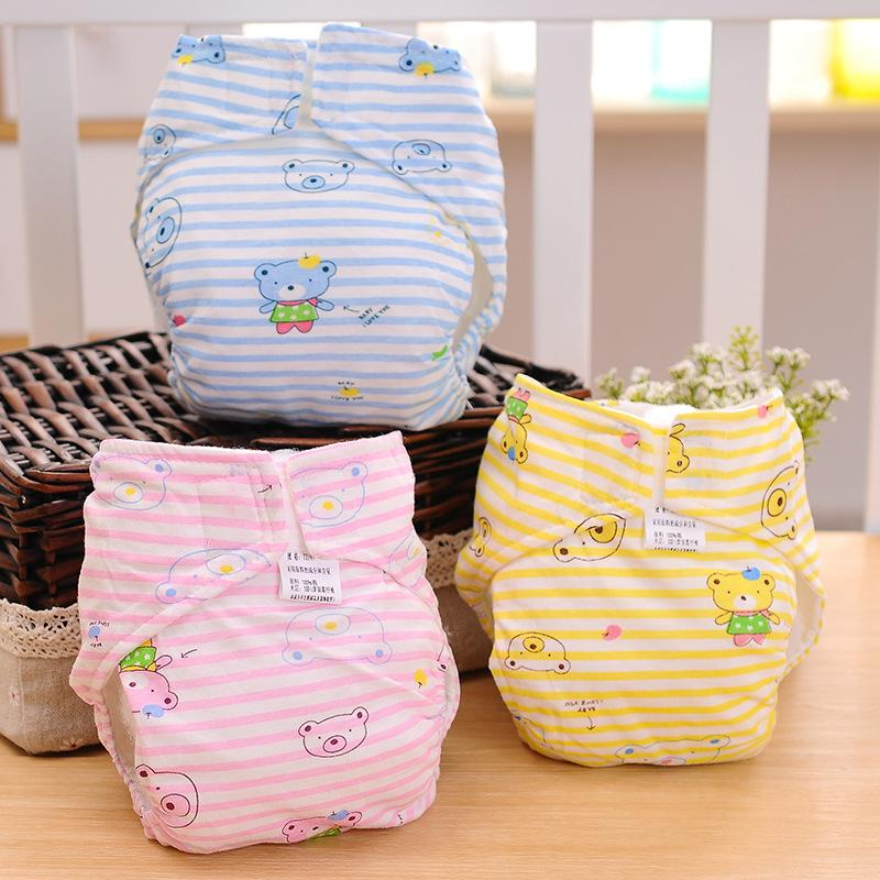 Baby Cloth Diapers - 100% Cotton Adjustable & Washable Reusable Baby Cloth Nappy-Wholesale