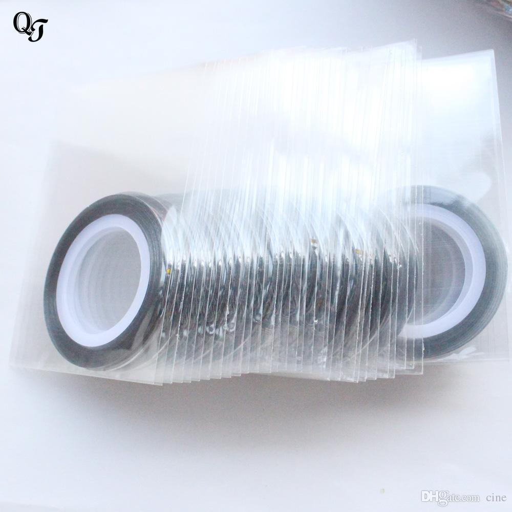 Tırnak Rulo Şeritleme Bant Hattı Süslemeleri Nail Art Hattı Sticker Tırnak Sanat UV Jel Lehçe İpuçları DIY Çıkartmaları