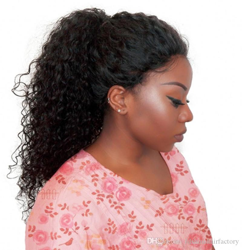 360 Lace Frontal Wig Pre Plucked With Baby Hair Peruvian Kinky Curly Remy Human Hair Wigs for Black Women FDSHINE