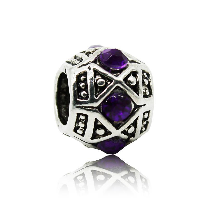 Fashion Crystal Bead Charm European Beads Fit Women Pandora Bracelet & Bangle DIY Original Jewelry Accessories Wholesale
