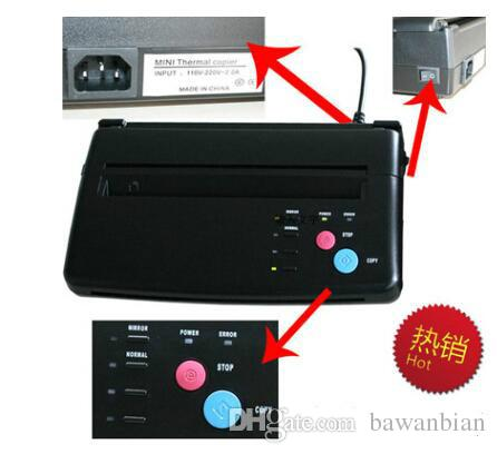 Wholesale-Lowest Price A4 Transfer Paper Black Tattoo Copier Thermal Stencil Copy Transfer Machine Hot