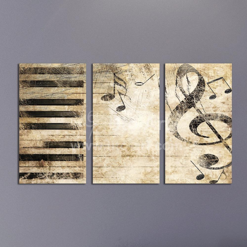 2019 Triptych Custom Multiple Panel Canvas Painting Piano