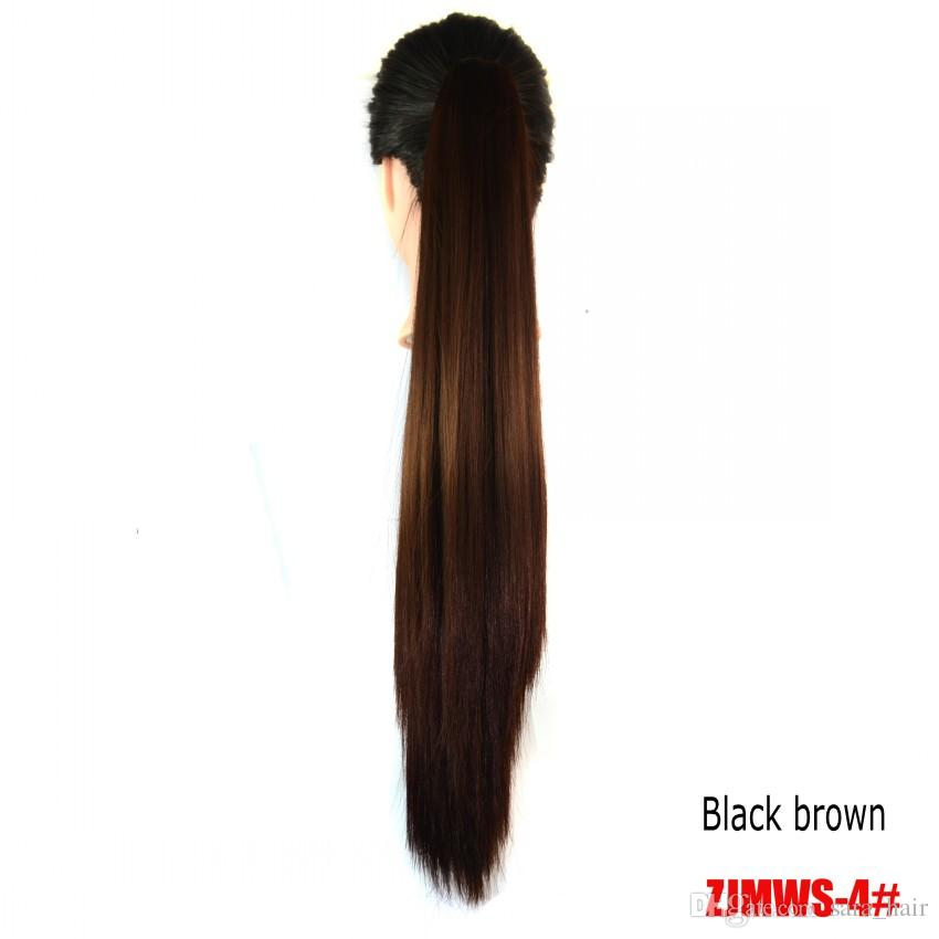 """Sara,Neverland Straight Ponytails Claw Jaw Clip in Ponytail Hair Extension 55cm,22"""" Similar Human Pony Tail Horsetail Synthetic Hairpiece"""