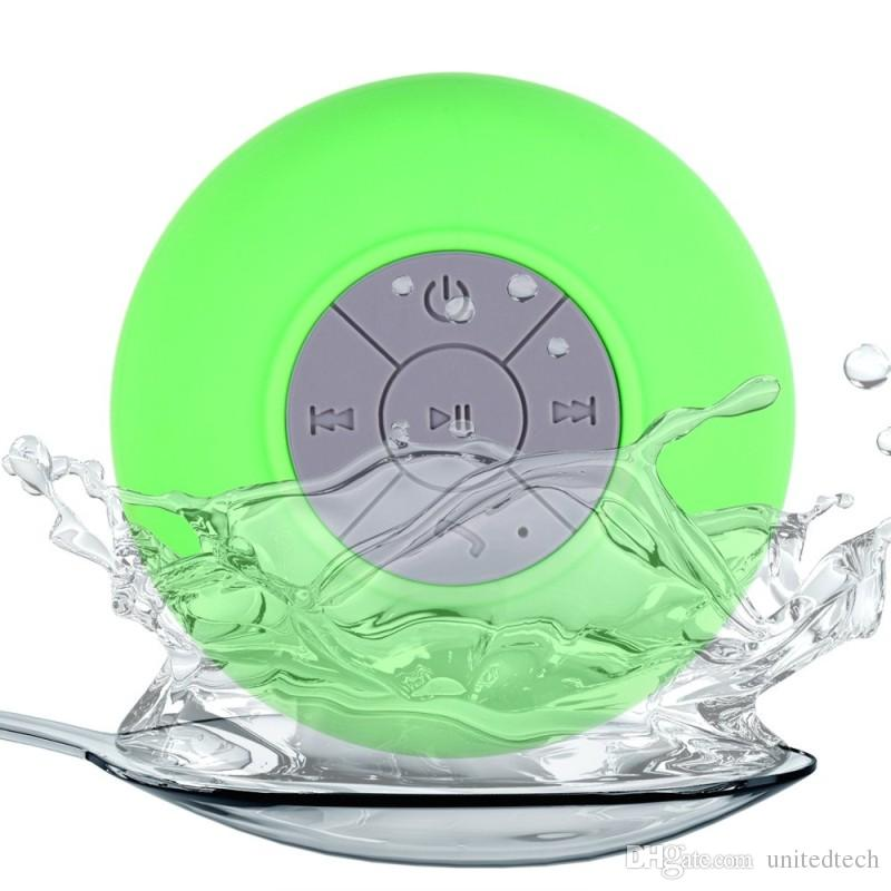 Universal Portable Subwoofer Shower Waterproof Wireless Bluetooth Speaker Car Handsfree Receive Call Music Suction Mic For iPhone android