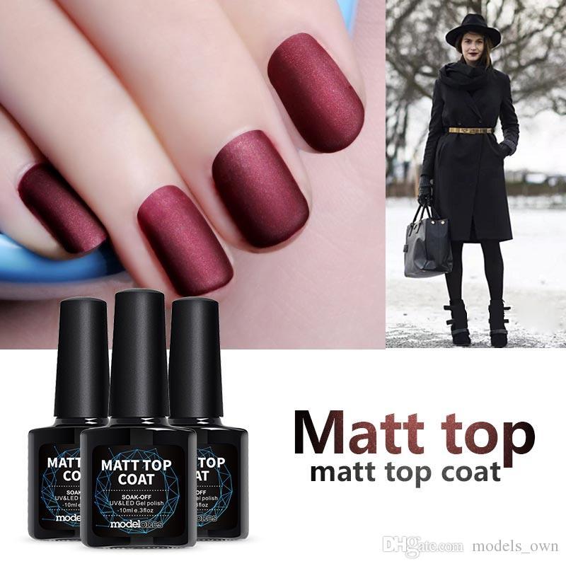 Matte Gel Nail Polish Top Coat Diy Nail Style Gel Polish Finish Nail ...