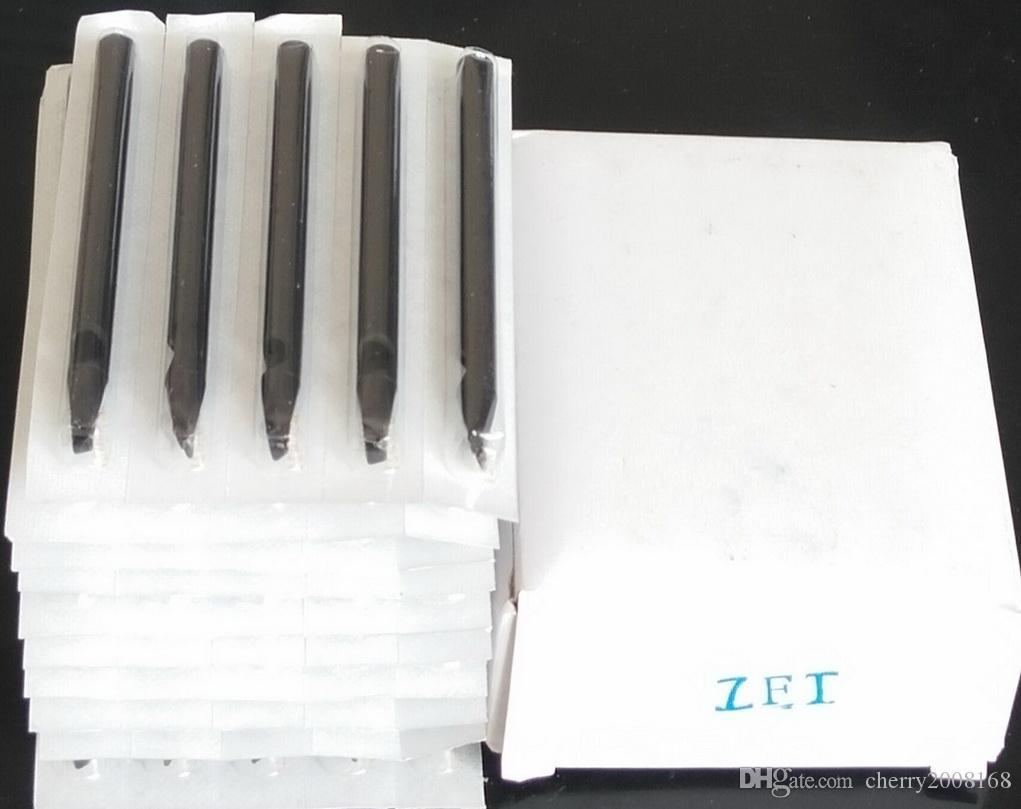 50 stks 7F Nieuwe Tattoo Disposable Flat 108mm Tube Grip Tattoo Tips Nozzles Zwart Lang
