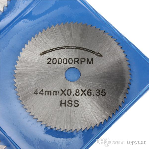 22-44mm HSS Circular Cutting Saw Blade Discs 3.175mm Shank for Dremel