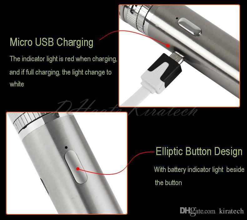E cig Mod Starter Kit atlantis vape mod 2200mah controllo del flusso d'aria della batteria aspiratore atomizzatore vaporizzatore elettronico confezione regalo di lusso pacchetto diretto