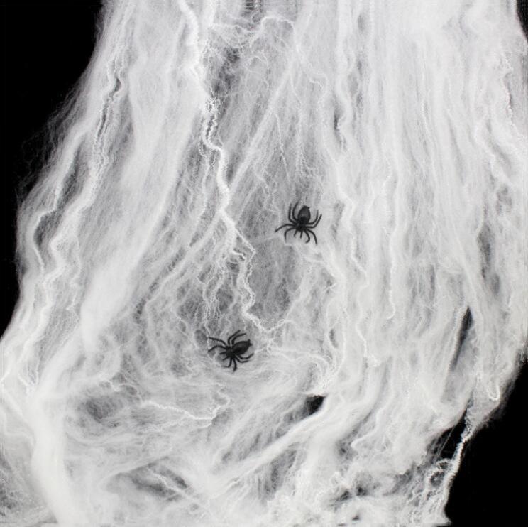 2 Örümcek Dekorasyon Sahne Ile cadılar bayramı Partisi Örümcek Web Bar Kulübü Perili ev Dekorasyon Sahne Siyah Beyaz Mor Yeşil Turuncu Örümcek Web