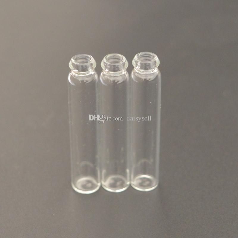 Aceite Esencial Recargable Mini Frasco de Perfume de Vidrio 1ML 2ML 3ML Perfume Líquido Muestra Botella Probador Botella Tubo Tapa Colorida