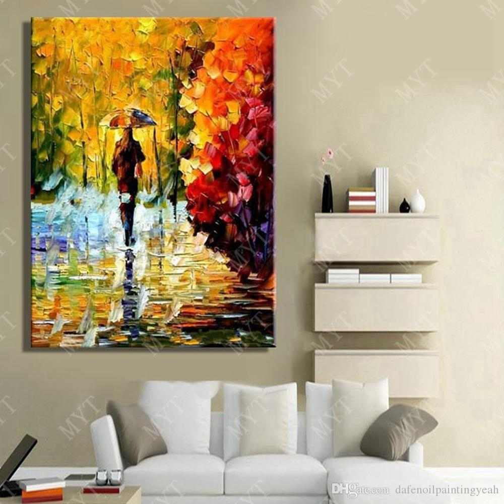 Wall Design Abstract Modern Landscape Oil Painting Living Room Wall Decor Hand Painted Canvas Picture No Framed