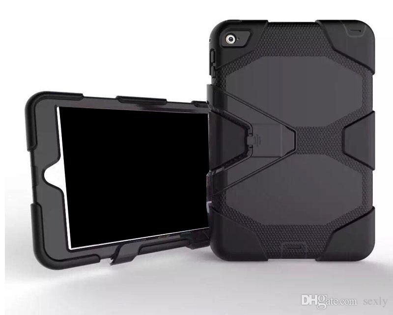 Military shockproof Heavy-Duty Case cover Stand Cover with Screen Protector for iPad 2 3 4 air air2 mini Tablet PC