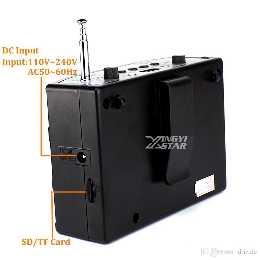 مكبر صوت لاسلكي صغير USB مضخم صوت في الهواء الطلق موسيقى مشغل MP3 مكبر الصوت راديو FM مكبرات الصوت المحمولة مكبر الصوت سماعة الميكروفون