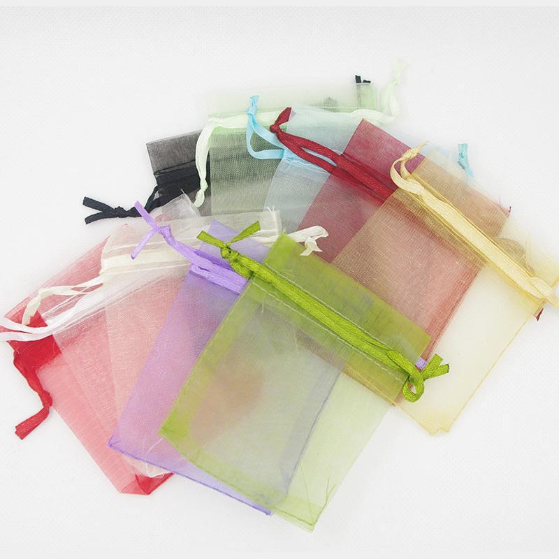 선택을위한 7 × 9 cm 오간자 가방 결혼식 호의 랩 파티 선물 가방 2.75 인치 X 3.5 인치 15 색