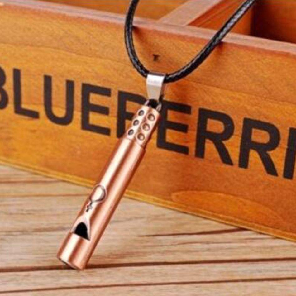 MIC Personality creative fashion Antique bronze & Antique copper alloy Whistle charm Pendant Men's Necklace