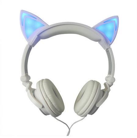 Original Wired Cat Ear Headphone Folded Gift Headband Earphone For ...
