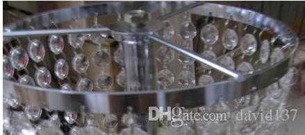 Prachtige bruiloft bloemstandaard middelpunt met opknoping kristal, helder kristal bruiloft lead road bloem decoratie / pijler kristalstandaard