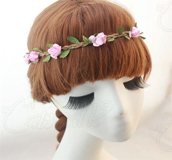 Headdress Flower Boho Floral Flower Beach Womens Girls Hairband Headband Wedding Party Beach Sweet Fresh Woven Wreath Garland Garden Flowers