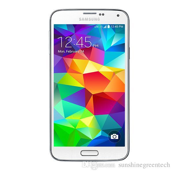 Yenilenmiş Samsung Galaxy S5 G900F G900A G900T G900P G900V Unlocked Telefon 100% Orijinal 5.1 inç Ekran 2 GB RAM 16 GB ROM Cep Telefonu