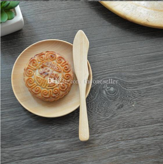 Couteau de haute qualité Jam Originalité en bois Vaisselle Couteau enfants vaisselle Couteau à gâteau Burlywood 15,5 * 2.3cm Taille Livraison gratuite