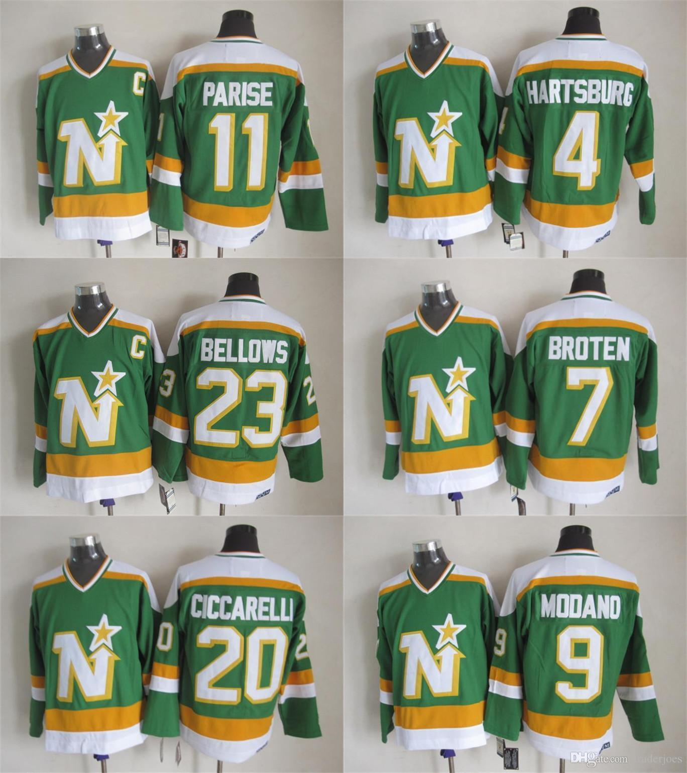 ... White jersey 2017 Mens Dallas Stars Jerseys Ice Hockey Jerseys 9 Modano  7 Neal Broten 11 Mike Gartner ... 3e8956f73