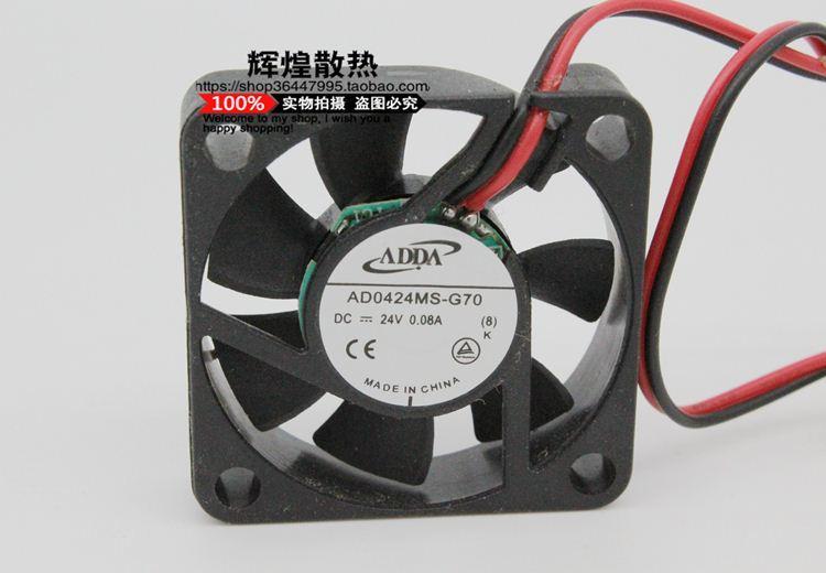 Nouveau ventilateur de refroidissement de l'imprimante 3D ADDA AD0424MS-G70 24V 4010 0.08A 40 * 40 * 10MM 4cm
