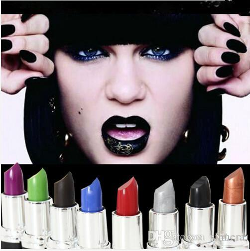 Professional Brand Lipsticks Makeup Long-lasting Matte Lipstick Purple Green Red Vampire Professional Party Batom High Quality 8 Colors