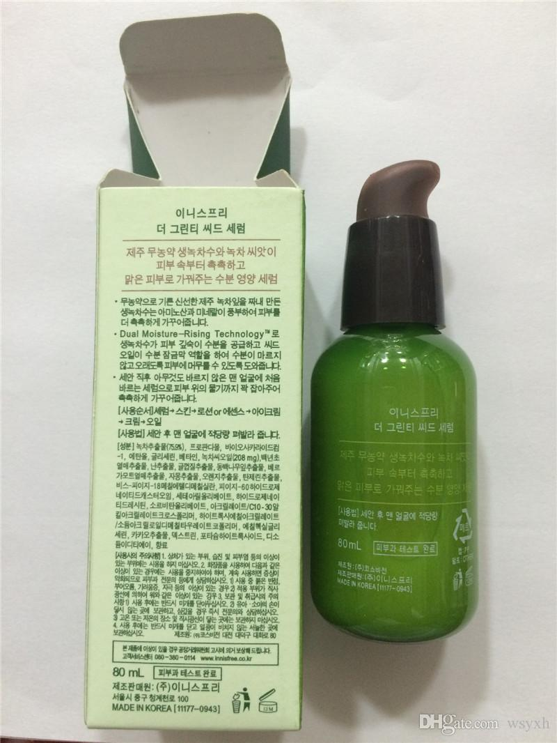 Nueva INNISFREE Green Bottle Cream GreenTea Seed Face Cream Hidratante Loción Facial 80ML Nuevo rostro Cuidado de la piel