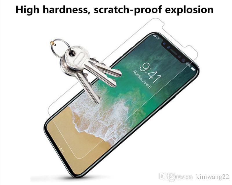 Para el protector de pantalla de iPhone 8, vidrio templado Para el protector de pantalla de dureza del protector del teléfono celular iPhone8 9H con paquete al por menor