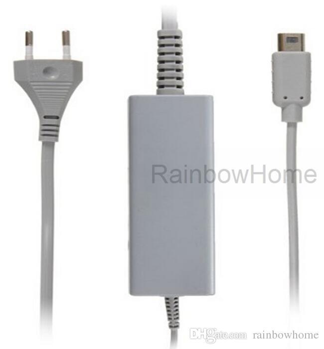Byte av nätadapter Supply Wall Laddare för Wii U Controller Gamepad Adaptrar US EU-kontaktbutik